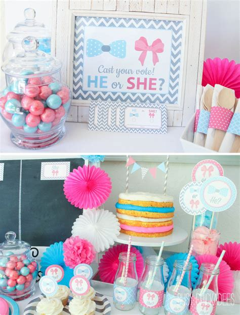 baby gender reveal party ideas baby shower