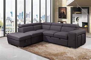 Urban, Cali, Pasadena, Large, Sleeper, Sectional, Sofa, Bed, With, Left, Facing, Chaise, Storage, Ottoman