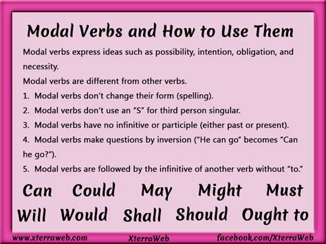 Modal Verbs And How To Use Them Xterraweb