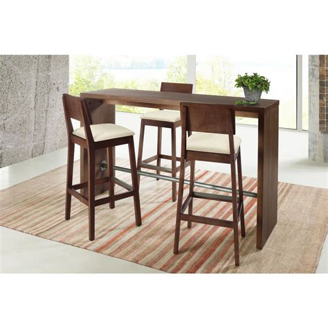 Kitchen Bar Table by Artefama Furniture Gourmet 39 4 In Cinnamon Counter