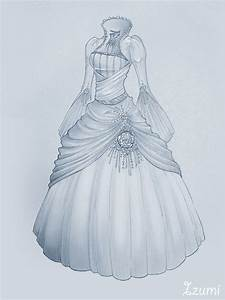wedding dress by izumik on deviantart With how to draw a wedding dress