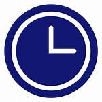Clock Icon Azul Reloj Analog Transparent Svg