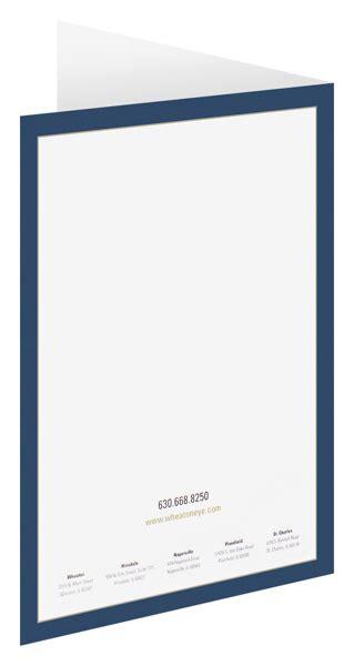 spot color printed  folders pms  pocket folder