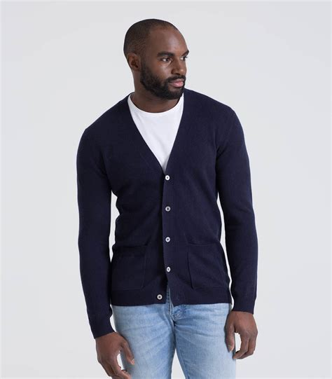 mens cardigan sweaters navy navy 20 80 merino mens and merino