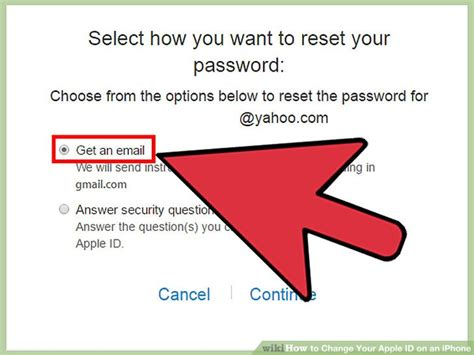 how to reset security questions on iphone 3 ways to change your apple id on an iphone wikihow