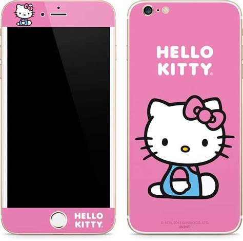 hello kitty iphone hello kitty sitting pink iphone 6 6s plus skin sanrio