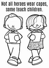 Coloring Heroes Teacher Capes Wear Sheet Nanny Printable Teachers Edition Above sketch template