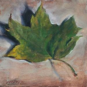 Paintings by Justin Clayton: Green Fall Leaf