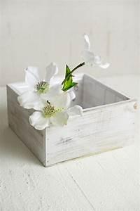 White, Wood, Square, Planter, Box, 7x7