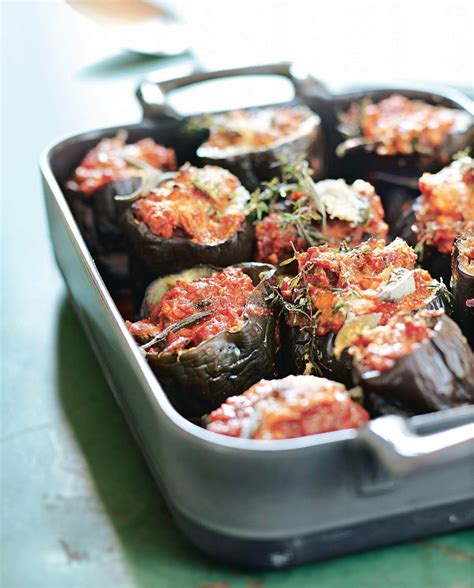 aubergines farcies  la provencale aubergines farcies