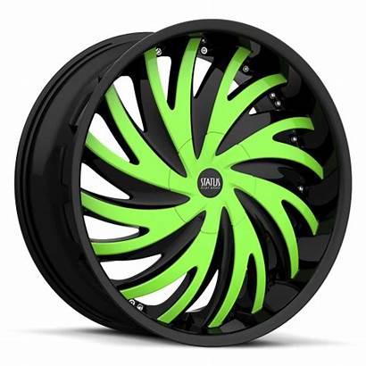 Wheels Custom Status Rims Hurricane S836 Tires