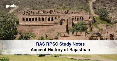 ras rpsc study notes ancient history  rajasthan