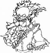 Ghost Rider Coloring Pages Ghostrider Print Cartoon sketch template