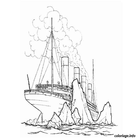 Dessin à Imprimer Bateau Titanic coloriage bateau titanic dessin