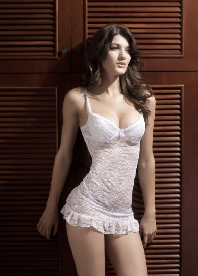 Pure White Low Cut Lingerie Sexy Babydoll
