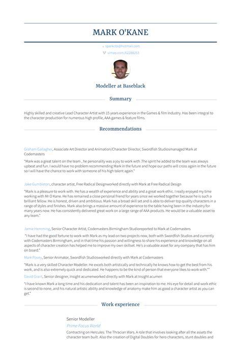 Model Resume Exles by Model Resume Sles Templates Visualcv