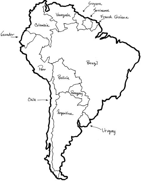 Map Of Central And South America Coloring Sheet Google