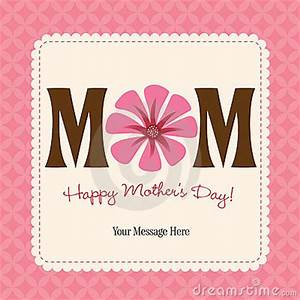 Mother's Day Card/Poster Royalty Free Stock Photos - Image ...