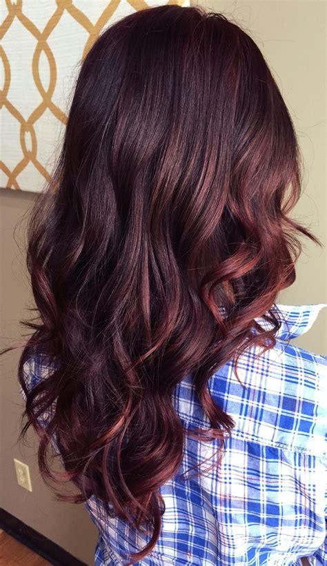 red balayage portfolio   work red balayage hair