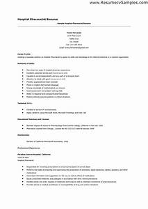 Hospital Pharmacist Resume