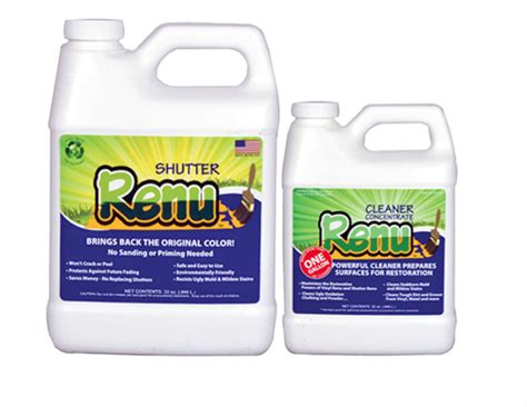 shutter renu shutter restorer gallon kit seal  green