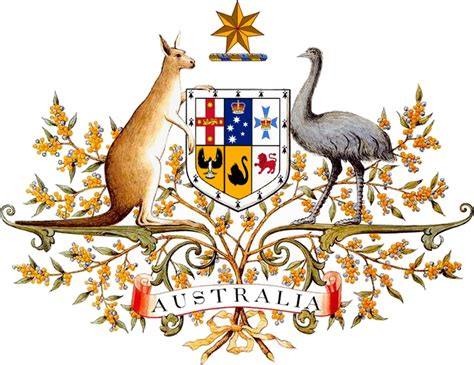 bureau de l immigration das staatswappen australien coat of arms of australia
