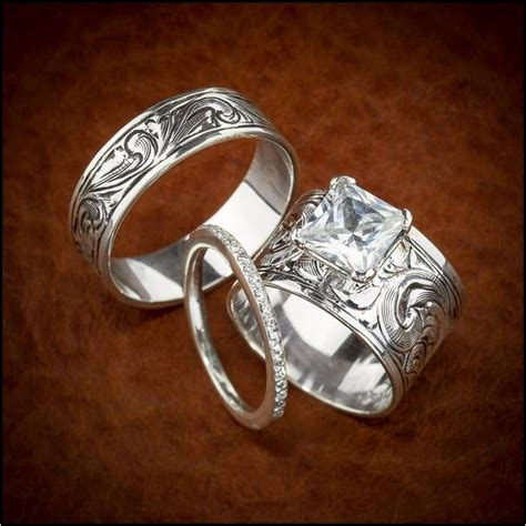 western wedding ring sets western wedding ring sets