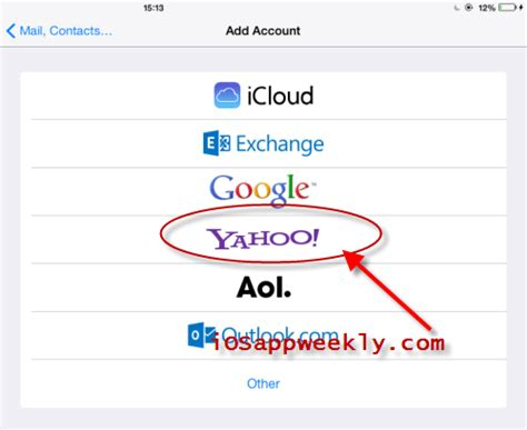 can t add to iphone add yahoo mail to ios app weekly