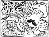 Coloring August Zingerman Deli sketch template