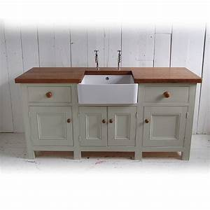 free standing kitchen sink unit by eastburn country