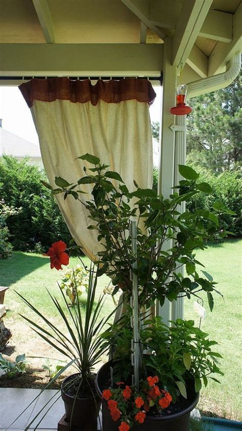 best 25 drop cloth curtains outdoor ideas on