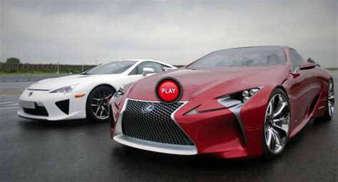 Lexus Lfa Meets Up With Lf-lc Concept Study For A Photo