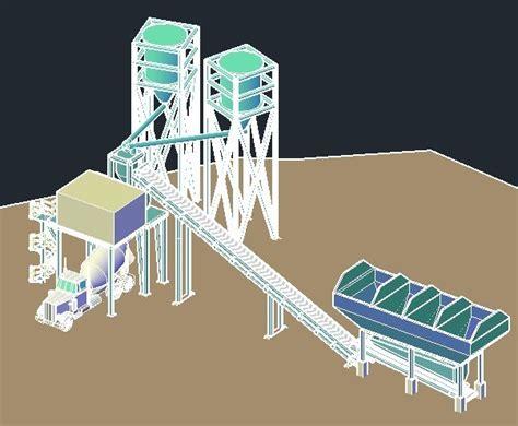 concrete batch plant dwg block  autocad designs cad