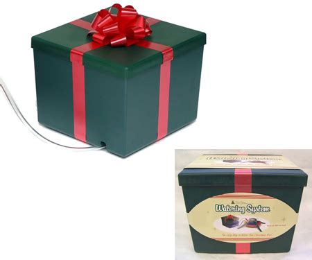 christmas tree watering present evergreen tree watering tree watering system disguised as small green square gift boxes