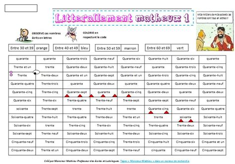 ecriture litterale des nombres le blog de monsieur mathieu
