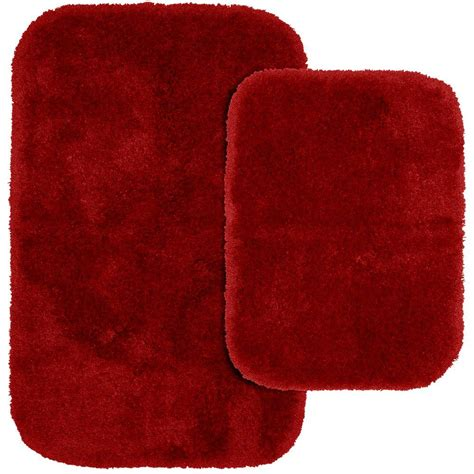 garland rug finest luxury chili pepper red      washable bathroom  piece rug set pre