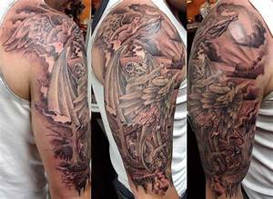 Sleeve Tattoos Angels And Demons | elaxsir
