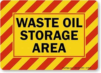 Waste Oil Sign Storage Signs Area Hazard