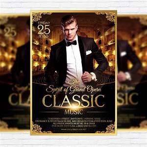 Classic Music – Premium Flyer Template + Facebook Cover ...