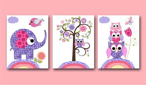 Owl Decor Owl Nursery Baby Girl Nursery Art Nursery Wall Art