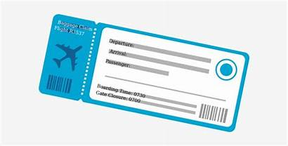 Ticket Plane Clipart Flight Transparent Blank Nicepng
