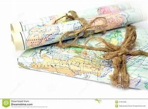 Alte gerollte Karten stockbild. Bild von oberseite, tour ...