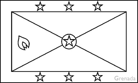 Saint Kitts And Nevis Flag Coloring Pages