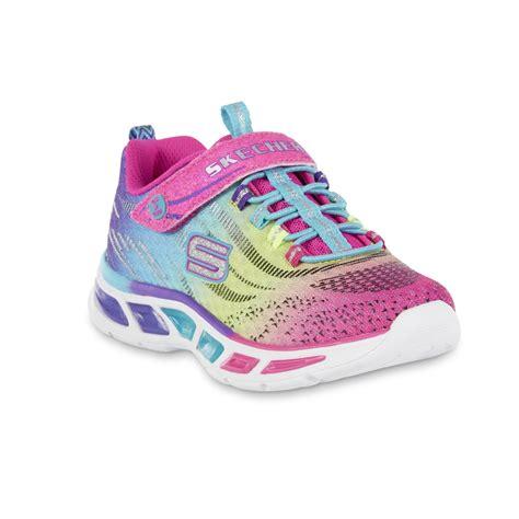 girls light up sandals skechers girls 39 lite beams multicolor light up sneaker