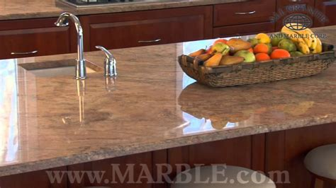 Vyara Gold Granite Kitchen Countertops by Marble.com   YouTube