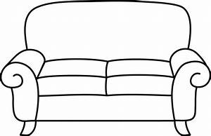 Sofa Coloring Page - Free Clip Art