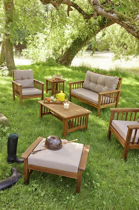 Salon de jardin bas en bois | Idu00e9es de Du00e9coration intu00e9rieure | French Decor