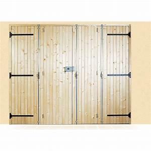 porte a lames verticales en bois a la belle fenetre With porte garage 2 vantaux