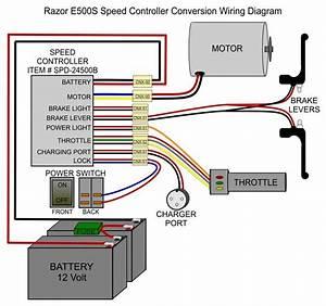 Razor E500s Replacement Controller