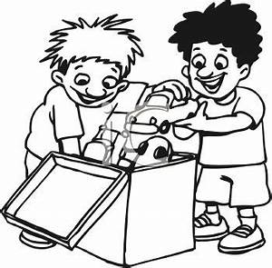 Friends Playing Clip Art Black And White | Clipart Panda ...
